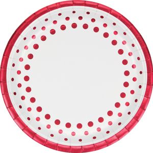 Ruby Dots Dinner Plates 8ct