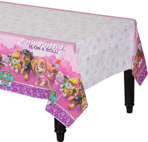 Pink PAW Patrol Table Cover