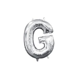 Air-Filled Silver Letter G Balloon
