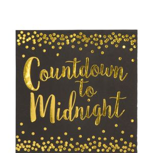Countdown to Midnight Lunch Napkins 16ct
