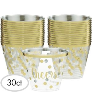 Cheers to a New Year Plastic Tumblers 30ct