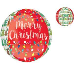 Merry Christmas Balloon - See Thru Orbz