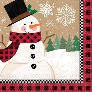 Winter Wonder Snowman Dinner Napkins 16ct