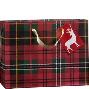 Small Buffalo Plaid Gift Bag