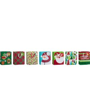 Mini Christmas Gift Bags 7ct
