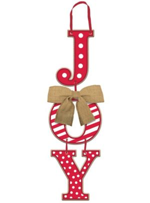 Holiday Stacked Joy Sign