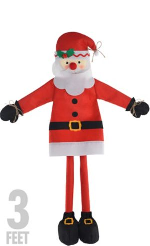 Friendly Standing Santa Decoration