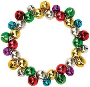 Rainbow Gold Jingle Bell Bracelet
