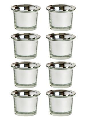 Silver Oyster Tealight Candle Holders 8ct