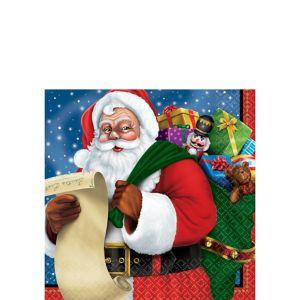 Classic Santa Beverage Napkins 125ct
