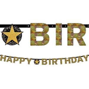 Prismatic Happy Birthday Banner - Sparkling Celebration