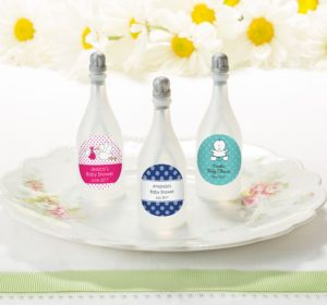 Personalized Baby Bubbles (Printed Label) (Baby Blue, Chevron)