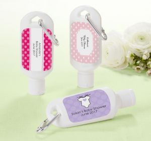 Personalized Baby Shower Sunscreen Favors (Printed Label) (Lavender, Greek Key)
