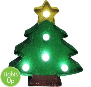 Glitter Light-Up Christmas Tree Marquee Sign