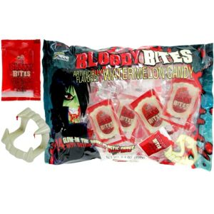 Bloody Bites Watermelon Candy & Fangs 24pc