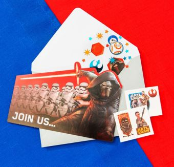 Star Wars 7 The Force Awakens Invitation Kit