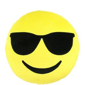 Sunglasses Smiley Pillow Plush