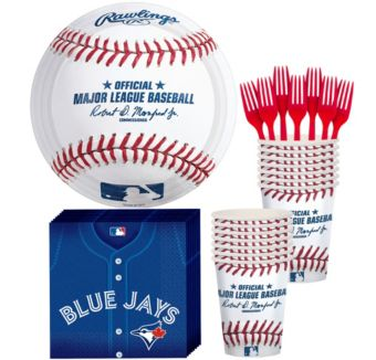 Toronto Blue Jays Basic Party Kit for 16 Guests