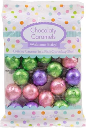 Baby Shower Chocolate Caramels 24ct
