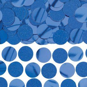 Glitter Blue Circle Confetti