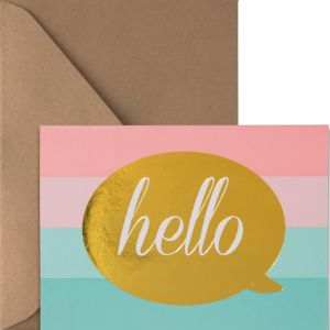 Metallic Pastel Hello Note Cards 20ct