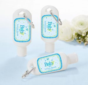 Personalized Baby Shower Sunscreen Wedding Favors (Printed Label) (Welcome Boy)