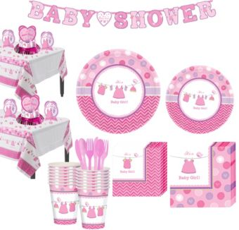 Girl Baby Shower Kit Shower With Love 16 guests