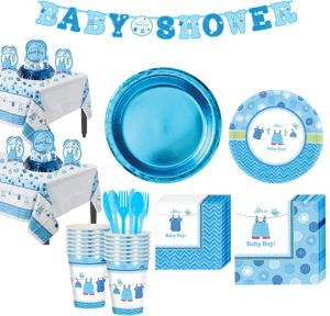 Boy Baby Shower Tableware Kit Shower With Love 32 guests