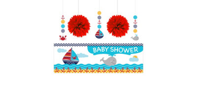 Ahoy Nautical Decorations Shower Kit