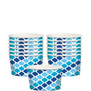 Blue Moroccan Treat Cups 12ct