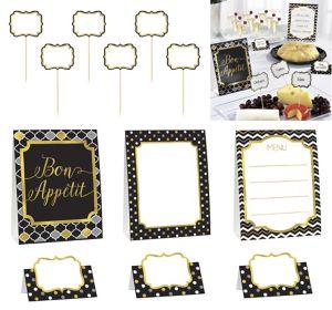 Black, Gold & Silver Buffet Decorating Kit 12pc
