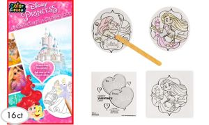 Disney Princess Valentine Exchange Cards with Coloring Tools 16ct