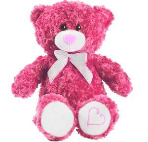 Pink Bow Teddy Bear Plush