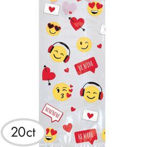 Smiley Valentine's Day Treat Bag Kit for 20