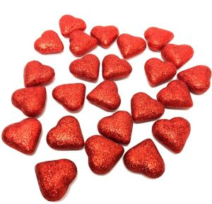 Glitter Hearts Valentine's Day Table Scatter 24ct