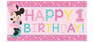 1st Birthday Minnie Mouse Banner