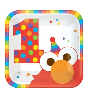 1st Birthday Elmo Dessert Plates 8ct