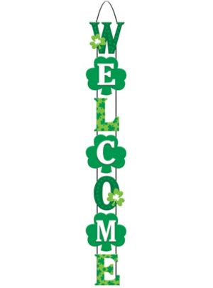 Shamrock Stacked Welcome Sign