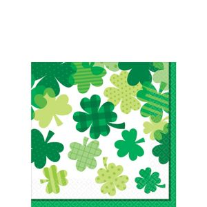 Blooming Shamrock Beverage Napkins 36ct