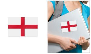 English Flag Cling Decal