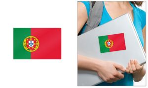 Portuguese Flag Cling Decal