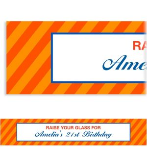 Custom Orange Generic Ticket Banner