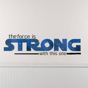 The Force Is Strong with This One Star Wars Wall Decals 6ct