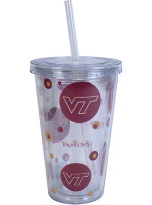 Virginia Tech Hokies Double Wall Tumbler with Straw