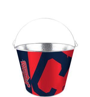 Cleveland Indians Galvanized Bucket