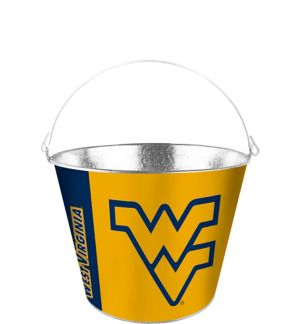 West Virginia Mountaineers Galvanized Bucket