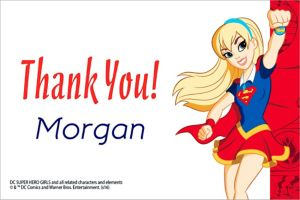 Custom DC Super Hero Girls Thank You Note
