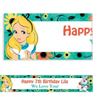 Custom Alice in Wonderland Banner
