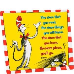 Cat in The Hat Reading Cutout - Dr. Seuss