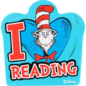 Cat in the Hat I Heart Reading Cutout - Dr. Seuss